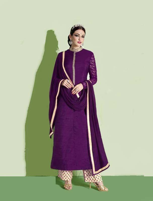 Designer Wine Colored Nairra Salwar Suit  #nakkashi #straightsalwarkameez #nairra  Visit- http://www.glamzon.com/shop/salwar-kameez/designer-wine-colored-nairra-salwar-suit/