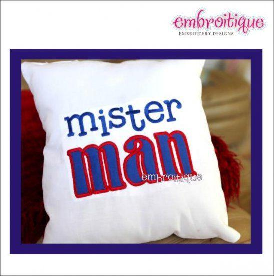Mister Man Big Boy Applique Sibling Design Machine by Embroitique, $2.99