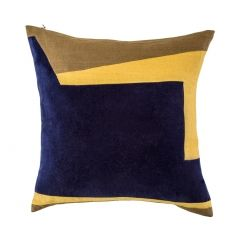 Abstract Geometric Square Cushion Cover Ink