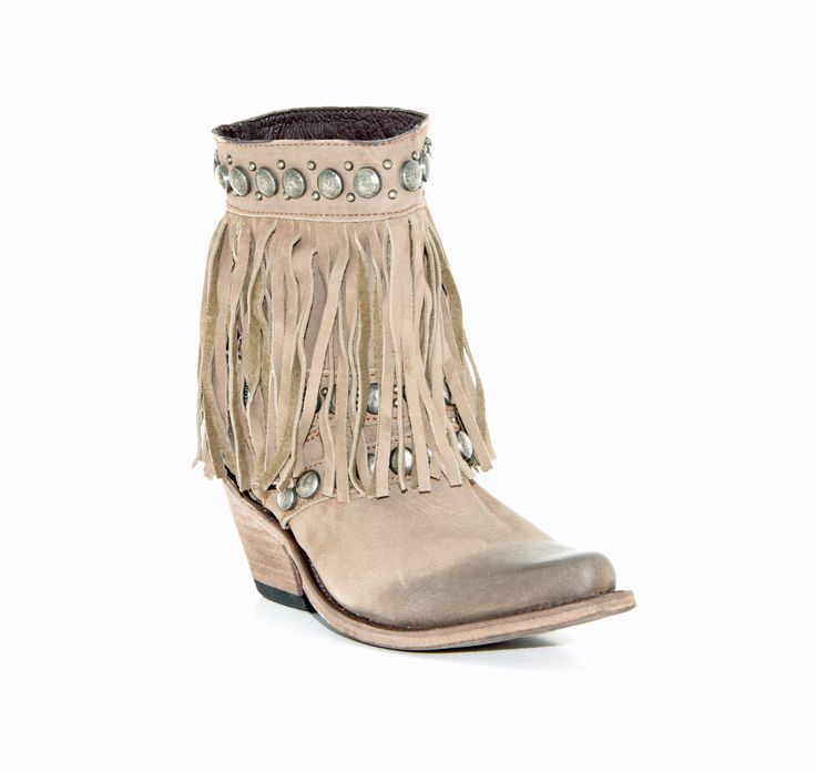 OMG FRINGE!! Women's Liberty Black Nubuck Boots Grease Taupe #LB-711213