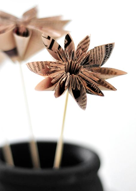 These aren't your grandmother's paper flowers.