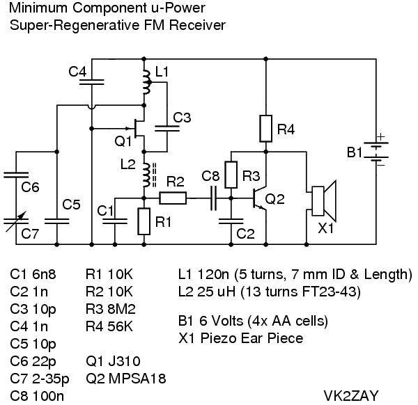 Fm Receiver Circuit Diagram Using Transistor  Fm Broadcast Receiver  Fm Receiver Circuit