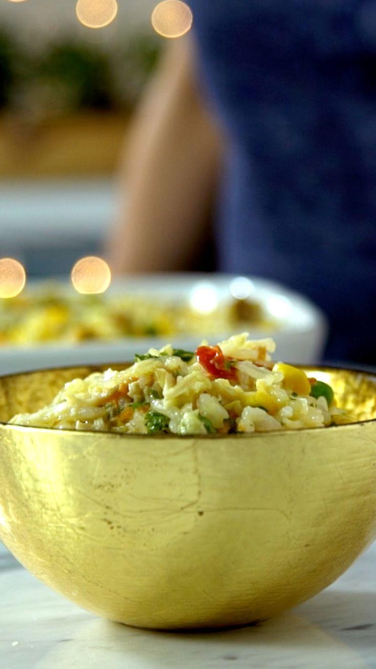 Sobrou peru da ceia de Natal? Reaproveite fazendo esse incrível arroz de forno!