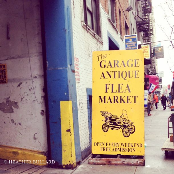 heatherbullard_nyc  the Garage Antique Flea Market