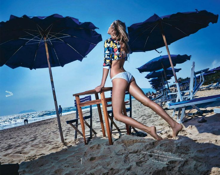 Katelin Lindgard by Steve Hiett for Elle France July 25th, 2014