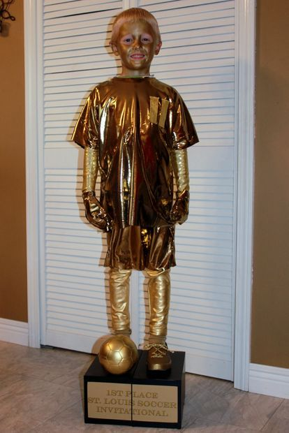 Picture of Soccer Trophy. What a great costume!