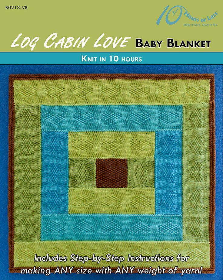 Log Cabin Love baby blanket in @lionbrandyarn Vanna's Choice [knit in 10 hours]