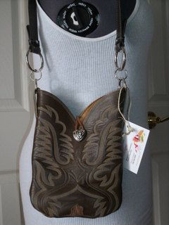 Eco-Friendly Cowboy Boot Purse made from your own Boot