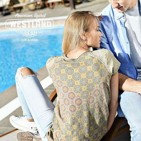 Хороша, как не крути! Это мы про нашу футболку с принтованной спинкой из женской коллекции #Westland. Но этно-принт на спинке далеко не вся прелесть футболки: она окрашена по специальной технологии garment-dye, а значит точно такой второй по цвету ты просто не найдешь.  ⠀  #shopping #trend #musthave #look #fashion #newcollection #styleblog #styleoftheday #beauty #beautiful #instastyle #instafashion #summer #summer2017 #style #streetfashion #мода #стиль #тренды #лето #шопинг #интернетмагазин