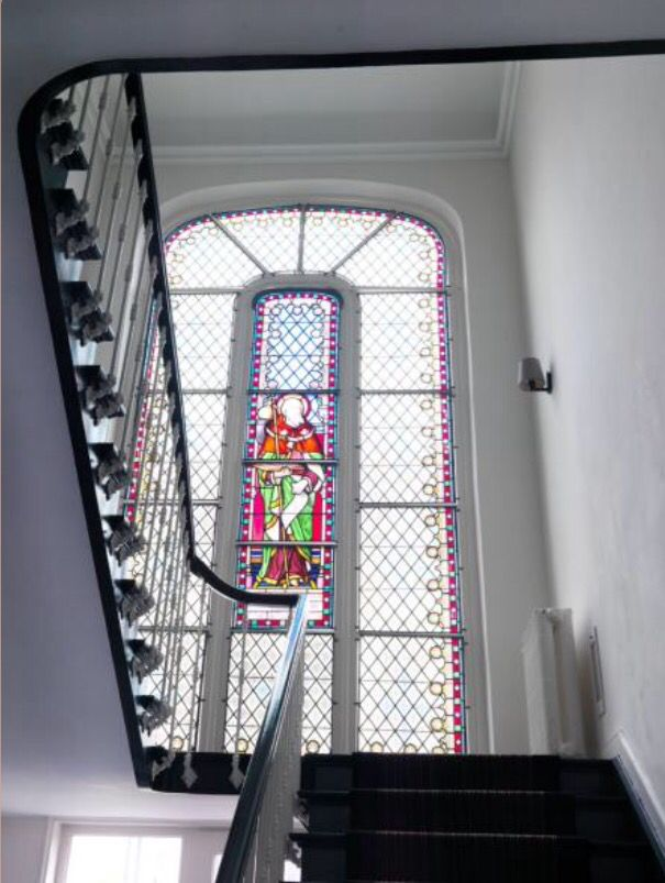 """This stunning stairway is from our feature """"A Flemish Affair"""""""