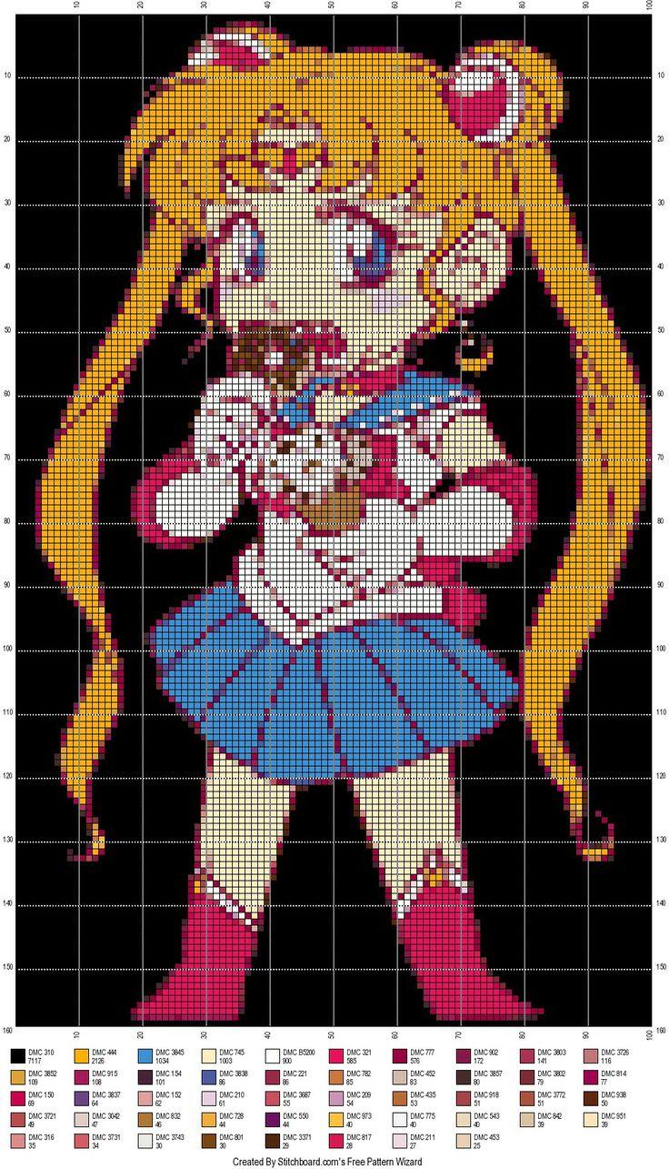 Sailor moon cross stitch pattern