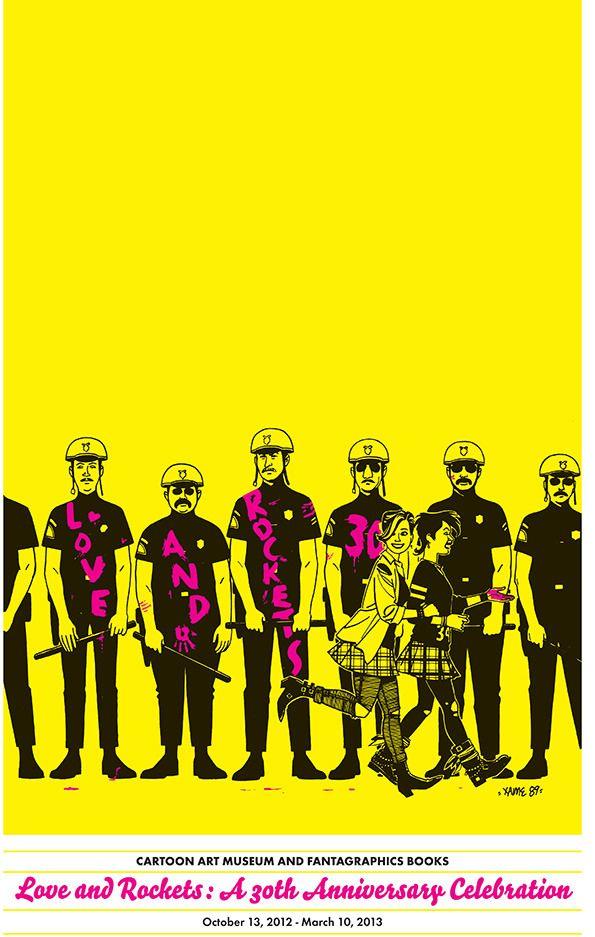 Hernandez Brothers – Love & Rockets poster