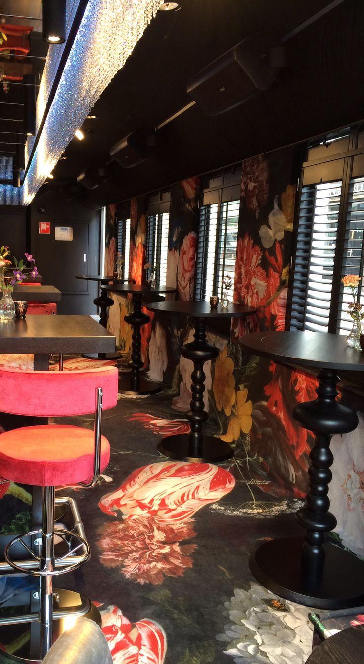 Café Arnhem. Geprint tapijt, ook tegen de wand!