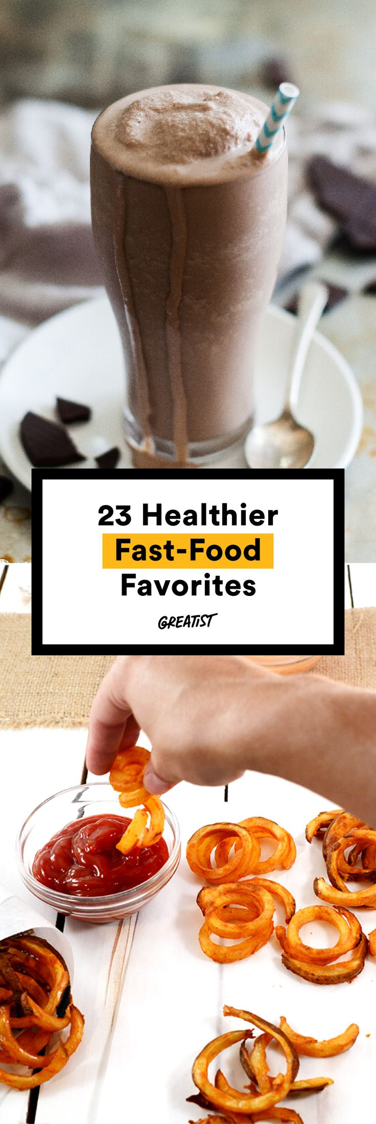 Recipes so close to the real deal, you'd never believe they're healthy. #greatist http://greatist.com/eat/healthier-fast-food-recipes