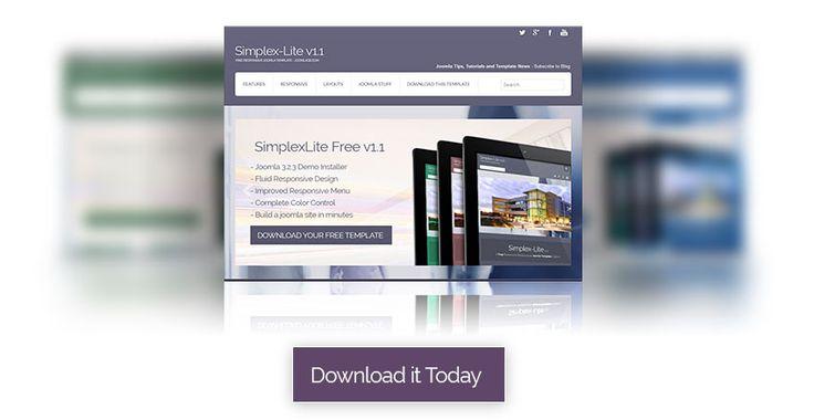 SimpleLite is a free joomla template. Download your free joomla template today and start building your joomla website.