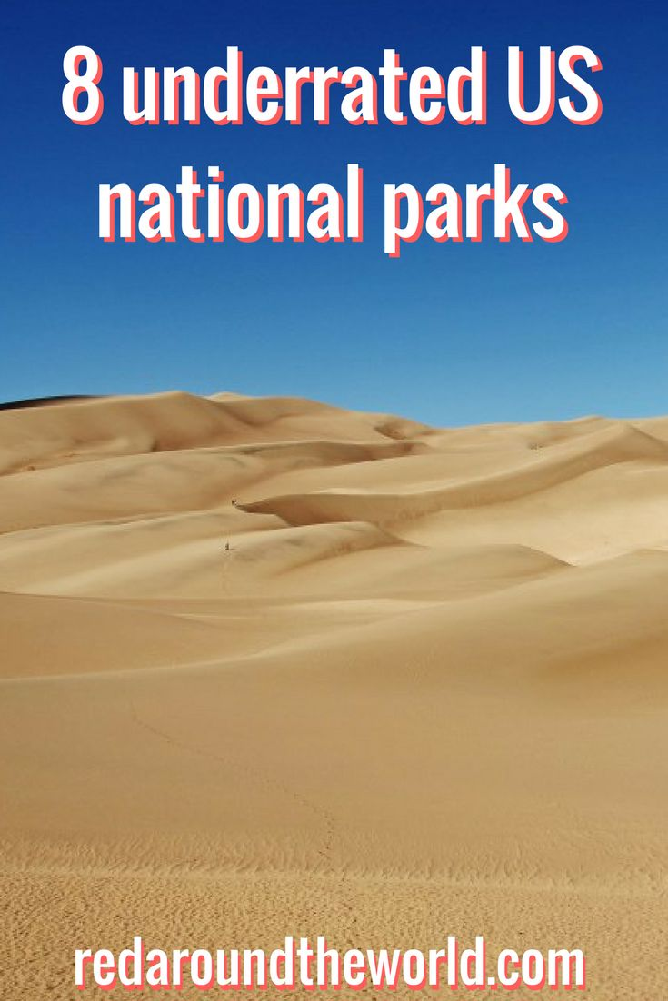 8 underrated US national parks   Explore these Underrated US national parks, from Congaree in South Carolina to Great Basin in Nevada   Capitol Reef National Park   Congaree National Park   Carlsbad Caverns National Park   Great Sand Dunes National Park   Black Canyon of the Gunnison National Park