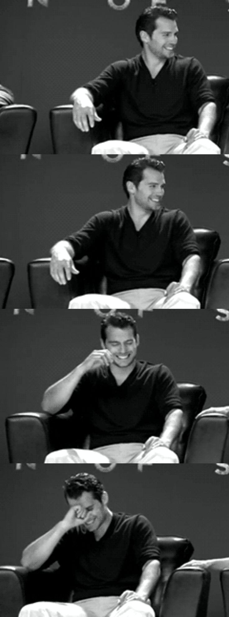 Henry Cavill. Gaaaaahhhhh!!! Love that smile!!!