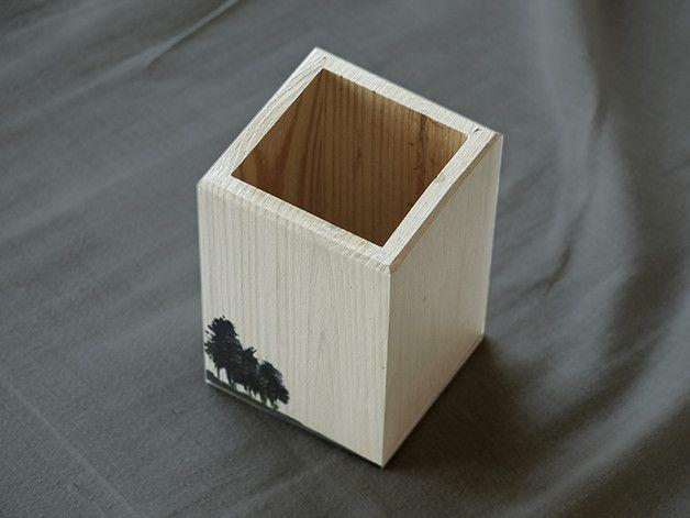 Przybornik Drewniany, Ręcznie Malowany - Tori- - Pozostałe