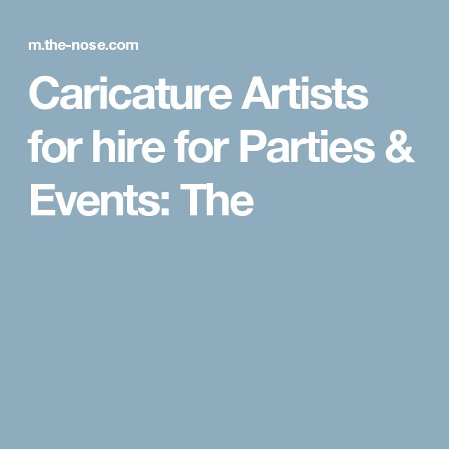 Caricature Artists for hire for Parties & Events: The