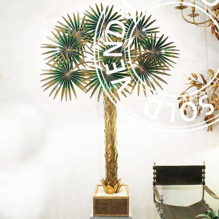 Lampe palmier maison Jansen années 70 Dav'Antiques antiquaire à L'isle sur la Sorgue en France