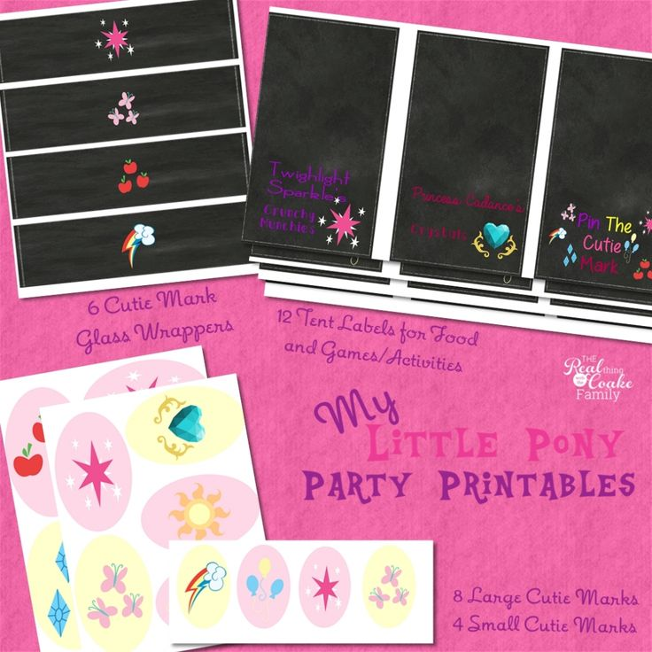 My Little Pony Birthday Party ~ Printables » The Real Thing with the Coake Family