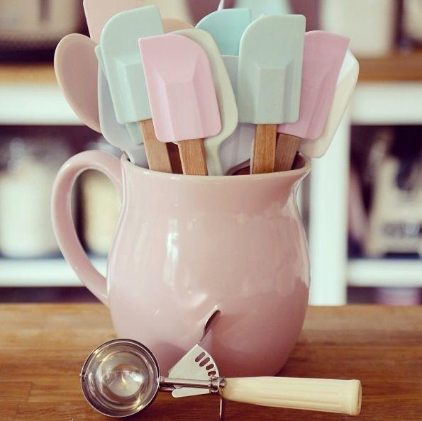 pastel kitchen supplies
