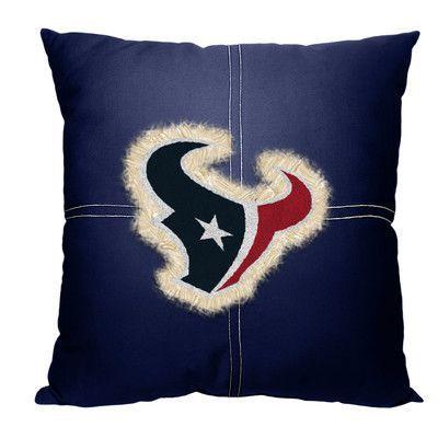 Northwest Co. NFL Texans Cotton Throw Pillow