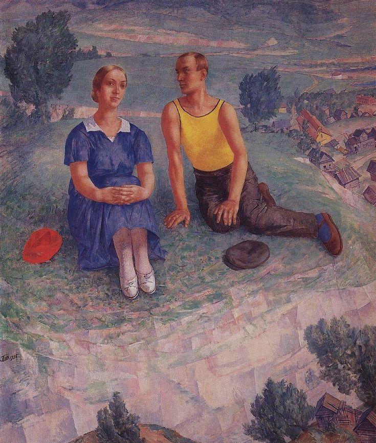 Kuzma Petrov-Vodkin: Spring. 1935.