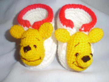 Handmade crochet newborn baby booties 0-6 months only US$8.98 with free delivery worldwide.