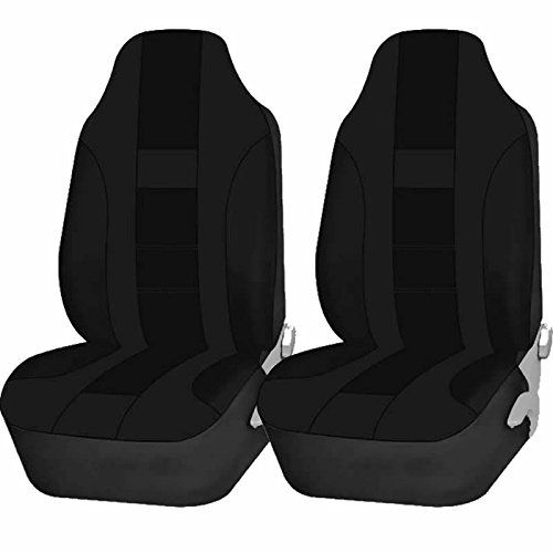 Auto Seat Covers Double Stitch Polyester U.A.A. Inc. Ⓡ High Back Set (Black). For product info go to:  https://www.caraccessoriesonlinemarket.com/auto-seat-covers-double-stitch-polyester-u-a-a-inc-%e2%93%87-high-back-set-black/