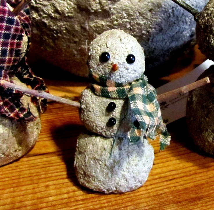 5 50 Mini Fairy Garden Snowman Each Handmade By Me Using Hypertufa Mix Mini Fairy Garden Fairy Garden Accessories Concrete Crafts