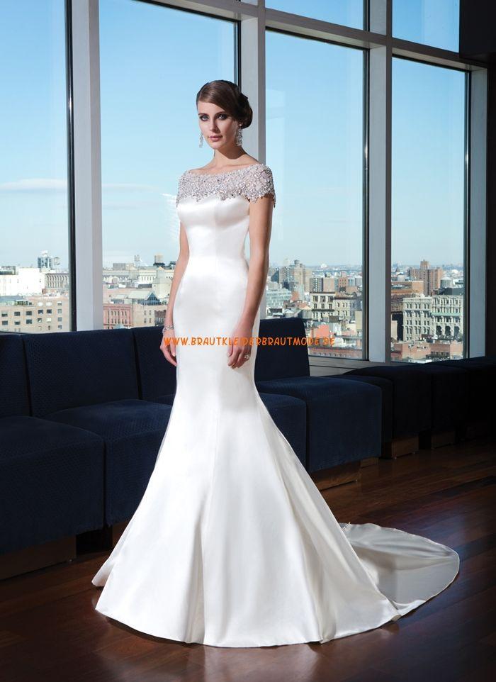 907 best Brautkleider aus Satin images on Pinterest   Short wedding ...