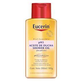 Eucerin Euc Aceite De Ducha Ph5 200Ml Limpia suavemente y repone lípidos de manera eficaz. Indicado para pieles secas, pieles atópicas, xerosis y psoriasis.