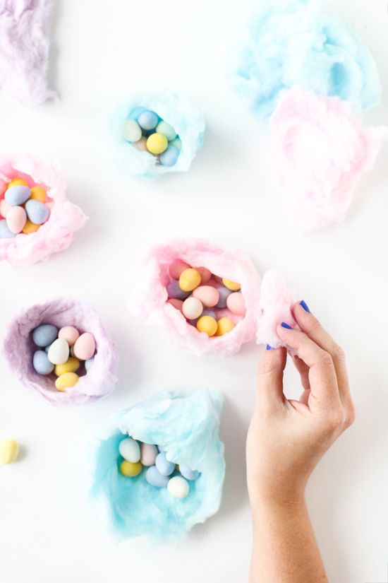 Oh My! Sugar High: How to Make Edible Cotton Candy Nests for Easter