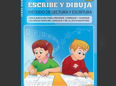 Escribe y Dibuja - Método de lectura y Escritura + Cuadernillo de Plantillas y Modelos