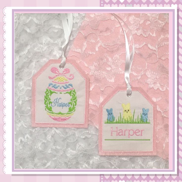 73 best gift tags images on pinterest embroidered gifts free easter basket personalized embroidered gift tag easter basket gift tag embroidered gift tag fabricreusable embroidered gift tag by mountainelegance on negle Choice Image