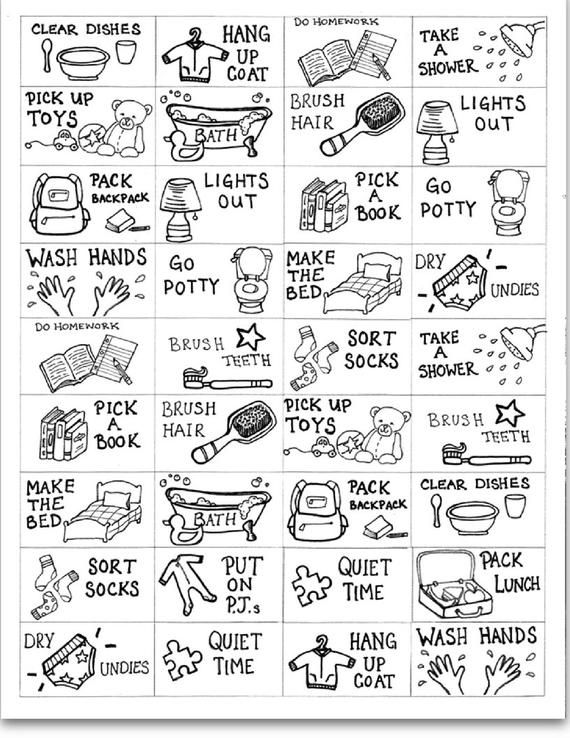 Pdf Digital Download Printable For Kids To Color Their Own Chores Creative Task Learning For Toddlers Pre Schoolers And Elementary School Toddler Learning Toddler Routine Babysitting Activities Activities for preschoolers at home pdf