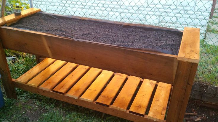 Raised Box planter # 2 made from Sienna pressure treated wood.