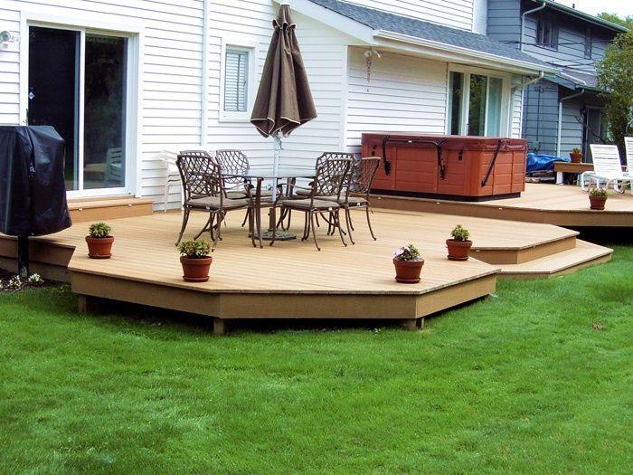 Ground Level Deck Designs   deck   Deck   Pinterest on Ground Level Patio Ideas id=38723