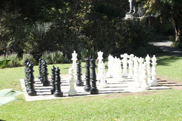 Chess board, Company Gardens, Cape Town in Western Cape