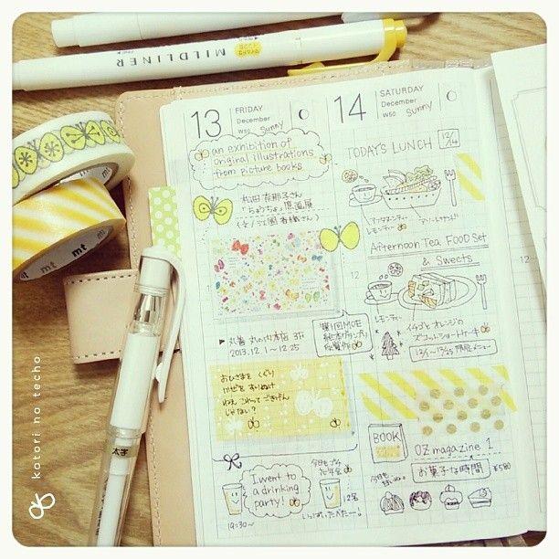 Hobonichi techo - 2 days per page