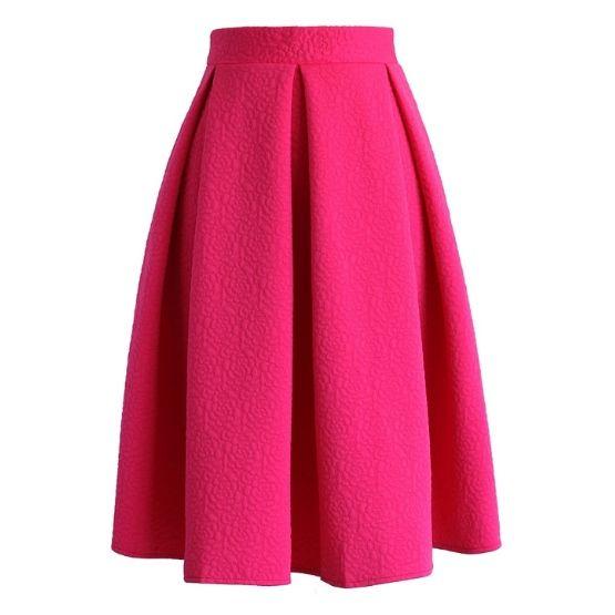 Sukně Chickwish Hot Pink Midi Blanka Straka 1.jpg
