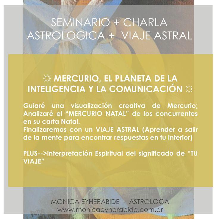 Seminario + Charla Astrologica + Viaje Astral #astrologia #astrology #mercurio #natal