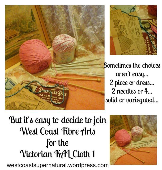 """FLASH GIVEAWAY will happen at 5 PM PACIFIC TIME TODAY (Jan 14th) for the new KAL/KNITALONG: Victorian KAL Cloth 1.  Please SHARE this post so others do not miss out!  And if they do...it is still on sale 50% off the already low price of $1.95.  Learn some new """"old"""" Victorian era stitches, have a little fun not knowing what they will look like!  Join the new Ravelry """"West Coast Fibre Arts"""" group to share comments and photos in the """"Spoiler"""" thread! #giveaway #flashsale #KAL #MysteryKAL"""
