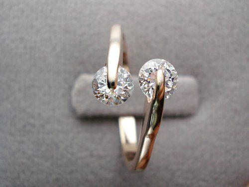 Swarovski Schmuck , 18K Rose Gold überzogener Art- Design Doppel Zircon CZ Diamant-Verlobungsring für die Frau - Größe Q Signore - Signori http://www.amazon.de/dp/B00F1EG2SO/ref=cm_sw_r_pi_dp_8fZyvb1KVNT31