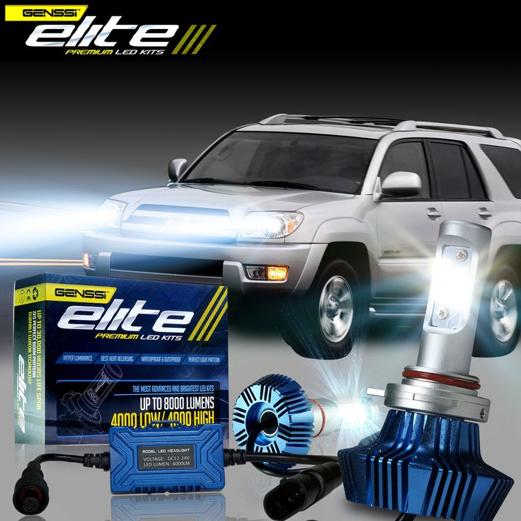 Super bright led conversion kit that, better than HID fits the 2003-2005 Toyota 4RUNNER