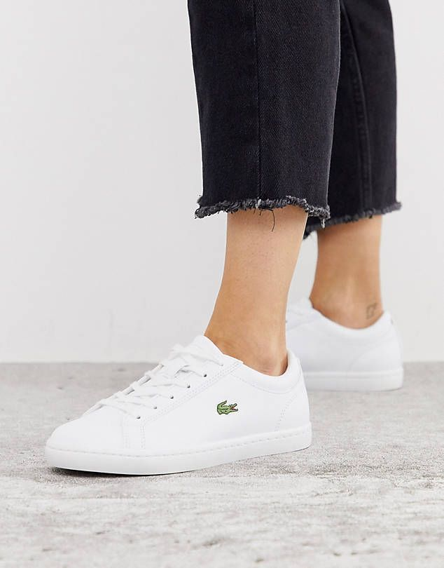White sneakers women, Lacoste shoes