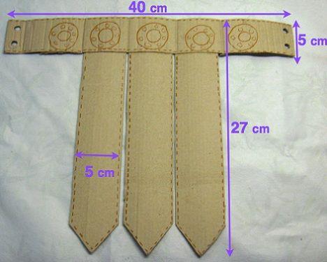 Cinturó de romà fet de cartró.