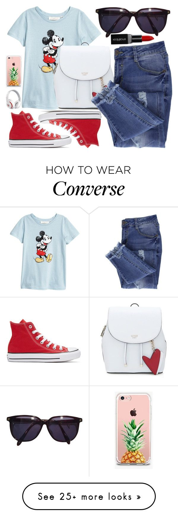 """""""Don't Believe Me Just Watch"""" by basmahahmed on Polyvore featuring Essie, Converse, Beats by Dr. Dre, The Casery, Sonia Rykiel and Smashbox"""