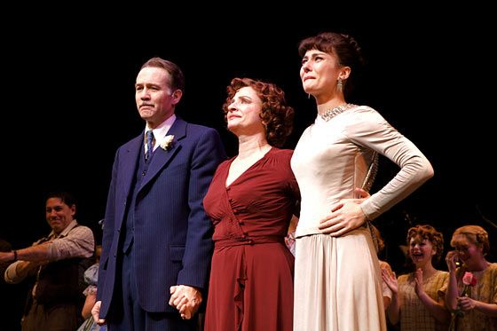 The final curtain call for the 2008 revival of Gypsy, with Boyd Gaines and Laura Benanti.